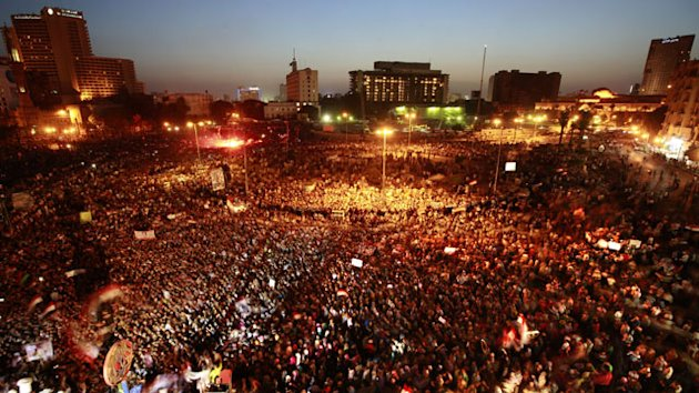 Egyptians March in Outrage Over Former Ruler Mubarak's Life Sentence (ABC News)