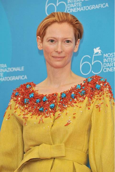 Venice Film Festival Burn After Reading Photocall 2008 Tilda Swinton