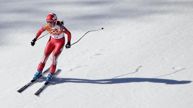Maze, Gisin win gold in women's Olympic downhill