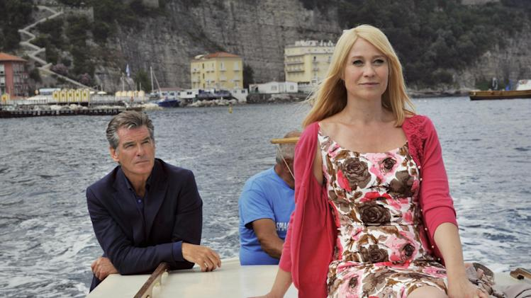 "This publicity photo released by courtesy of Sony Pictures Classics shows Pierce Brosnan as Philip and Trine Dyrholm as Ida in the film, ""Love Is All You Need."" (AP Photo/Sony Pictures Classics, Doane Gregory)"
