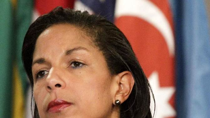 """FILE - This June 7, 2012 file photo shows U.S. Ambassador to the U.N. Susan Rice listening during a news conference at the UN. Republican opposition to Rice's possible nomination to be secretary of state began to crack Sunday, Nov. 25, 2012, as Sen. John McCain said she was """"not the problem"""" in the White House's explanation about the Sept. 11 attack in Libya and he could be persuaded to swing behind her potential promotion. McCain's comments provide an opening for the administration, which struggled mightily in the weeks leading up to the Nov. 6 election to tamp down speculation of a cover-up involving the attack against the U.S. Consulate in Benghazi.  (AP Photo/Bebeto Matthews)"""