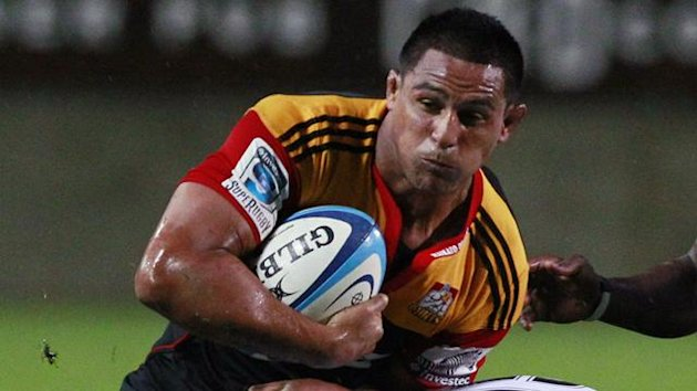 Tanerau Latimer in action for Waikato Chiefs (Reuters)