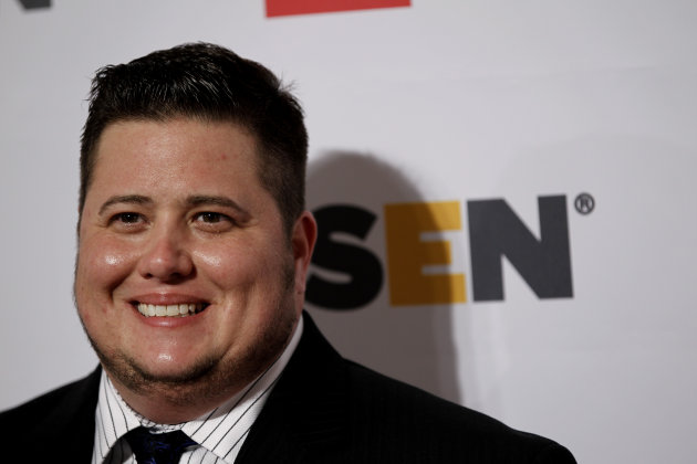 FILE - Honoree Chaz Bono arrives at the 7th annual GLSEN Respect Awards in Beverly Hills, Calif., in this Oct. 21, 2011 file photo. The 43-year-old transgender activist and author was honored with the outstanding documentary prize and Stephen F. Kolzak Award at the 23rd annual Media Awards for the Gay and Lesbian Alliance Against Defamation Saturday April 21, 2012. (AP Photo/Matt Sayles, File)