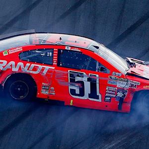 Allgaier and Ty Dillon bring out caution