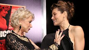 Caption It! Helen Mirren Gets Grabby With Biel
