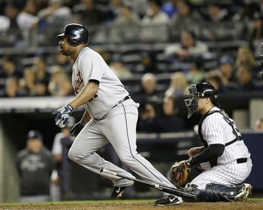 Jeter hurt, Young stars as Tigers win ALCS opener