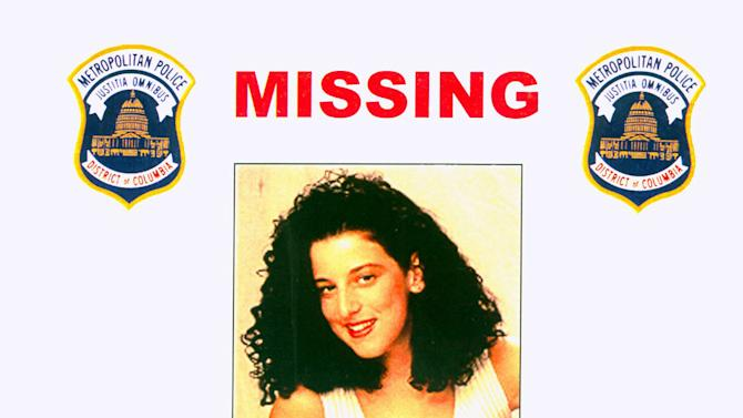 FILE - This 2001 file photo provided by the Washington Police Department shows the missing poster of Chandra Ann Levy, of Modesto, Calif. A judge is holding secret hearings in the case of the man convicted in the 2001 killing of Washington intern Levy. Neither prosecutors nor defense lawyers have revealed the purpose of the hearings, which have been taking place in Washington behind closed doors. Several media organizations, including The Associated Press, are petitioning to open the proceedings. (AP Photo/Washington Police Department, File)