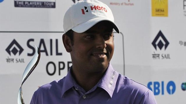 Anirban Lahiri of India wins the SAIL-SBI Open (AFP)