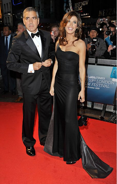 The Times London BFI Film Festival 2009 George Clooney Elizabetta Canalis