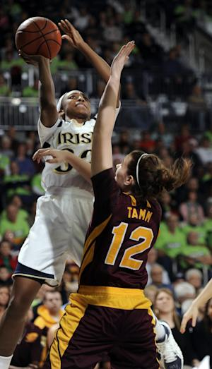 No. 4 Notre Dame women rout C Michigan 106-72