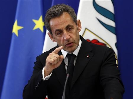 Former French President Nicolas Sarkozy attends the inauguration of the Institut Claude Pompidou, a new centre for care and research of Alzheimer disease, in Nice