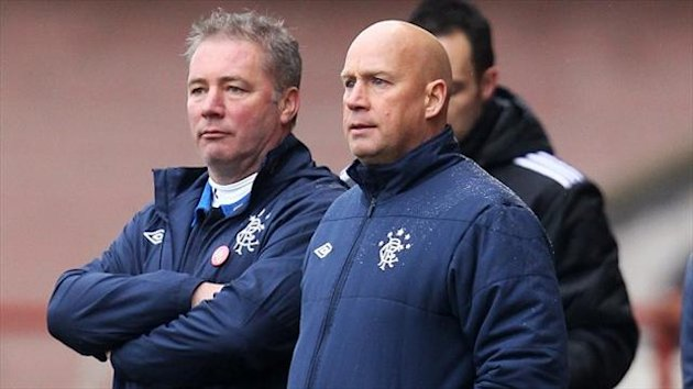 Kenny McDowall, right, says the Rangers players 'just want to play football'