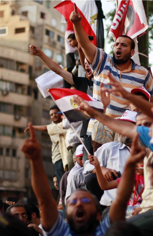 Tahrir Square Protests As Egypt Awaits Result