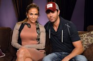 Jennifer Lopez and Enrique Iglesias pose backstage at a press conference at Boulevard3 in Hollywood, Calif. on April 30, 2012 -- Getty Premium