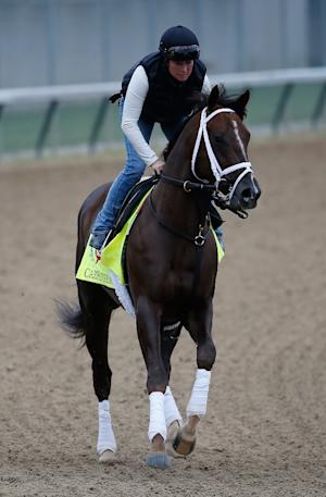 Carpe Diem goes through morning training for the Kentucky …