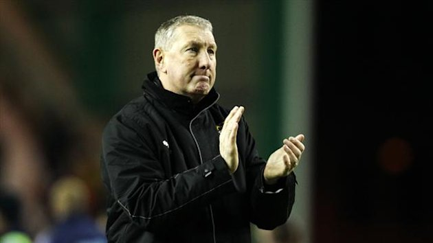 Terry Butcher could not hide his delight after beating Hibs