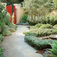 Stamped concrete path