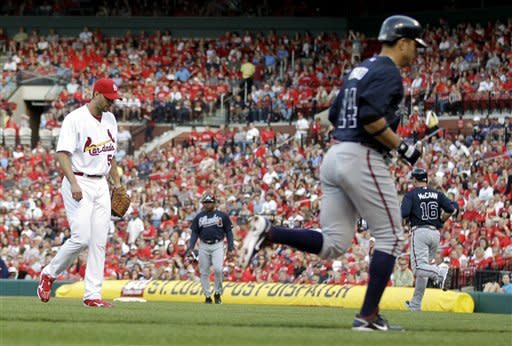 Beachy, Bourn lead Braves to 7-2 win over Cards