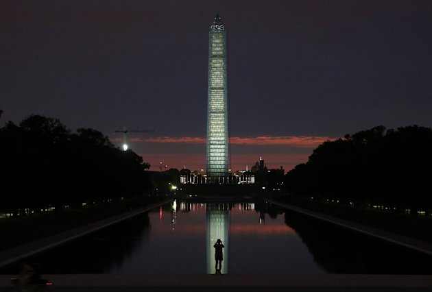 The Washington Monument and reflectiong pool in Washington, DC. (Mark Wilson/Getty Images)