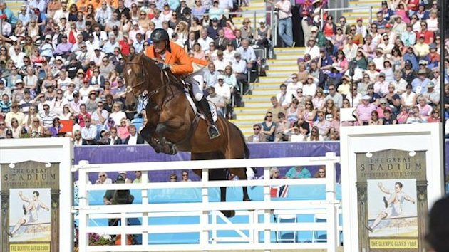 Dutchman Marc Houtzager at the London Olympics