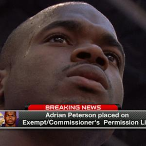 Minnesota Vikings running back Adrian Peterson placed on Exempt/Commissioner's Permission List