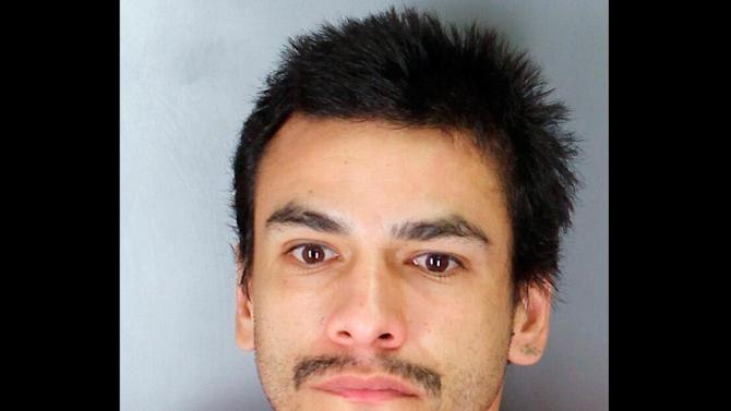 This undated photo provided by the Tulare County Sheriff's Department shows Hector Celaya, 31. Authorities say that Celaya is a suspect in shootings in which three people died and four others, including two young girls, were wounded Saturday, Dec. 8, 2012, on the Tule River Indian Reservation in the Sierra foothills of California's Central Valley. (AP Photo/Tulare County Sheriff's Department)