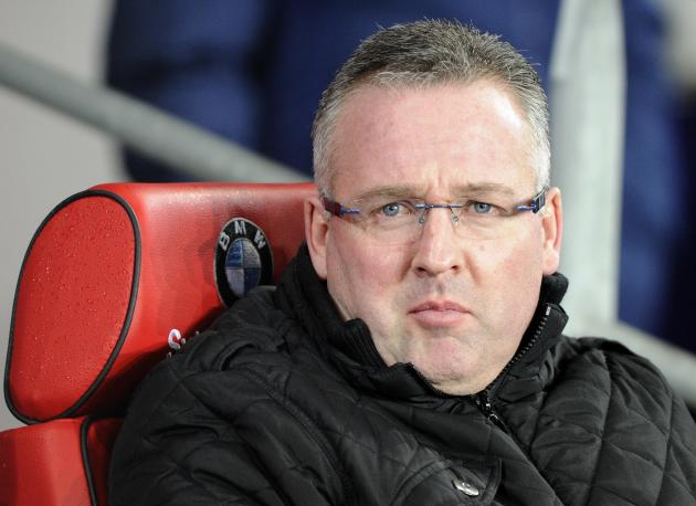 Aston Villa's manager Paul Lambert watches their English Premier League soccer match against Cardiff City at Cardiff City Stadium