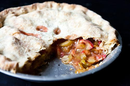 Anne Dimock's Straight Up Rhubarb Pie