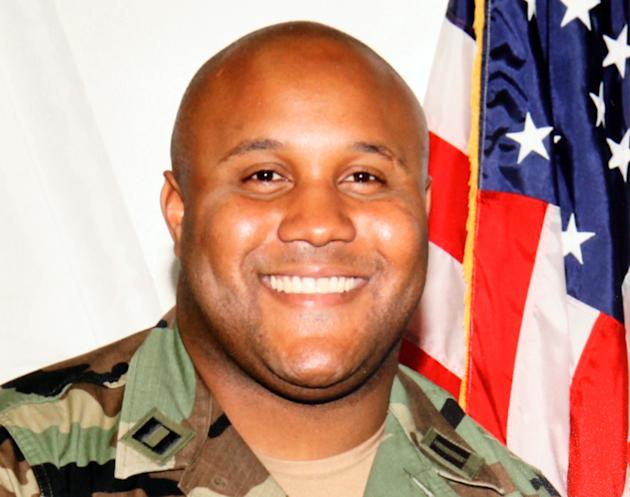 This undated photo released by the Los Angeles Police Department shows suspect Christopher Dorner, a former Los Angeles officer. Seeking leads in a massive manhunt, Los Angeles authorities on Sunday p