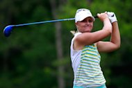 MOBILE, AL - MAY 19:  Anna Nordqvist of Sweden watches her tee shot on the 4th hole during the final round of the Mobile Bay LPGA Classic at the Crossings Course at the Robert Trent Jones Trail at Magnolia Grove on May 19, 2013 in Mobile, Alabama.  (Photo by Chris Trotman/Getty Images)