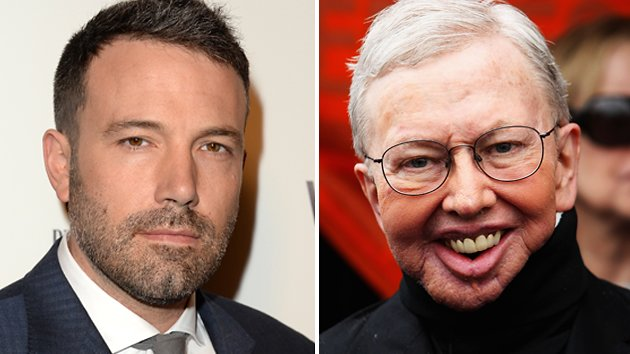Ben Affleck, left, and the late Roger Ebert