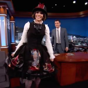 Evangeline Lilly Wears Curious Costume on 'Kimmel'
