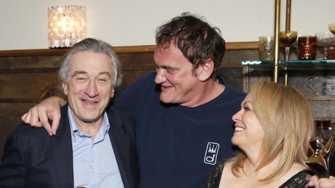 Robert De Niro, Quentin Tarantino and Jacki Weaver attend the Australian Academy Of Cinema And Television Arts' 2nd AACTA International Awards at Soho House on January 26, 2013 in West Hollywood, California. (Photo by Todd Williamson/Invision/AP Images)