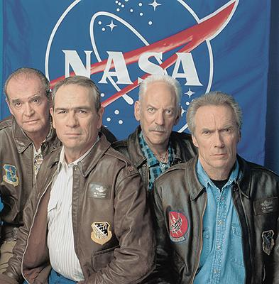 James Garner , Tommy Lee Jones , Donald Sutherland and Clint Eastwood in Warner Brothers' Space Cowboys