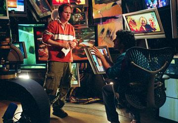 Writer/director Joss Whedon and David Krumholtz in Universal Pictures' Serenity