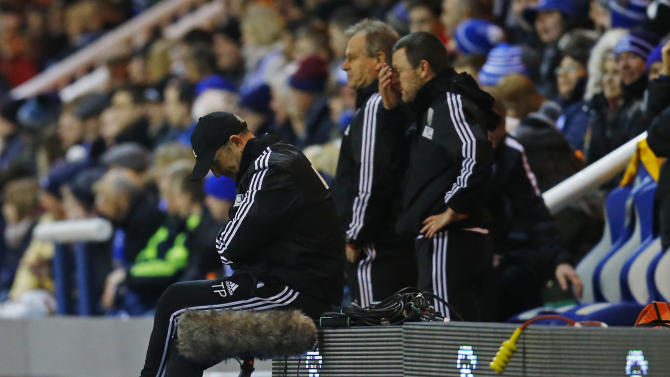 West Bromwich Albion manager Tony Pulis looks dejected