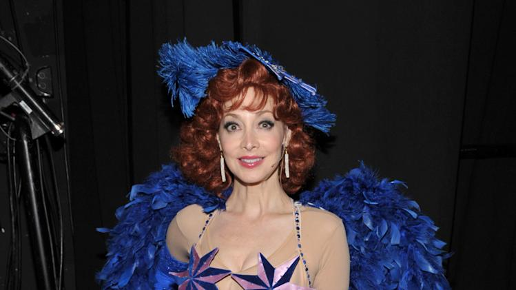 Actress Sharon Lawrence poses backstage at the 21st Annual 'A Night at Sardi's' to benefit the Alzheimer's Association at the Beverly Hilton Hotel on Wednesday, March 20, 2013 in Beverly Hills, Calif. (Photo by John Shearer/Invision for Alzheimer's Association/AP Images)