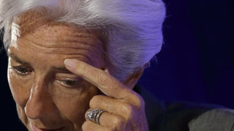 File photo of International Monetary Fund Managing Director Christine Lagarde attending a conference about the future of the Euro zone organized by the Robert Schuman foundation in Paris