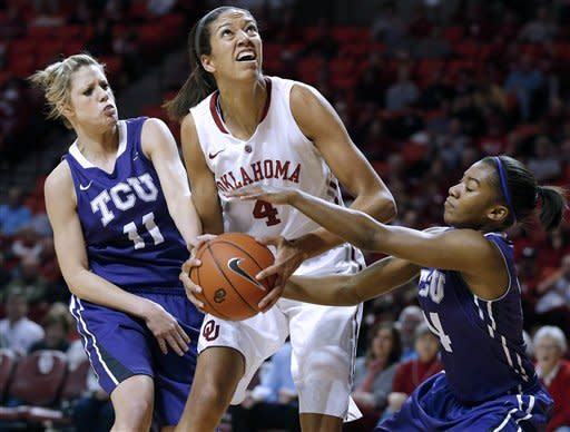 No. 21 Oklahoma comes back to beat TCU 74-53