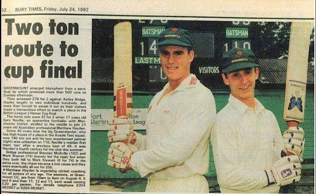 Gary Neville and Matthew Hayden