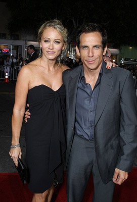 Christine Taylor and Ben Stiller at the Los Angeles premiere of DreamWorks Pictures' The Heartbreak Kid