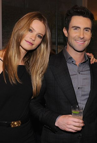 Adam Levine and Behati Prinsloo. (Courtesy of Getty Images)