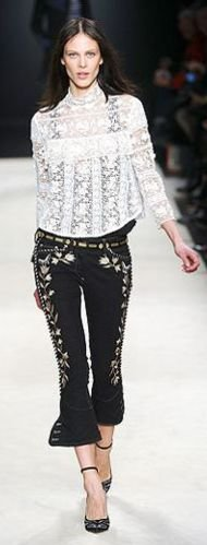 Top 13 Denim Trends For Fall 2012 Embroidered
