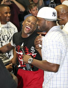 Things have changed between Floyd Mayweather and 50 Cent. (Getty)