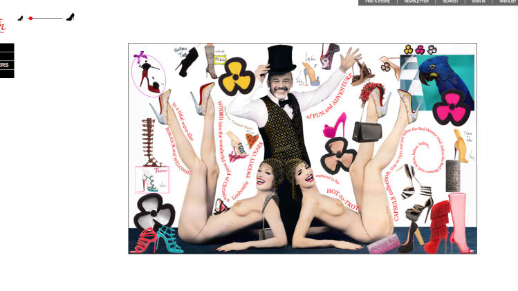 The Christian Louboutin website