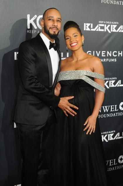 Swizz Beats and Alicia Keys attend Keep A Child Alive's 11th annual Black Ball at Hammerstein Ballroom on October 30, 2014 in New York City -- Getty Images