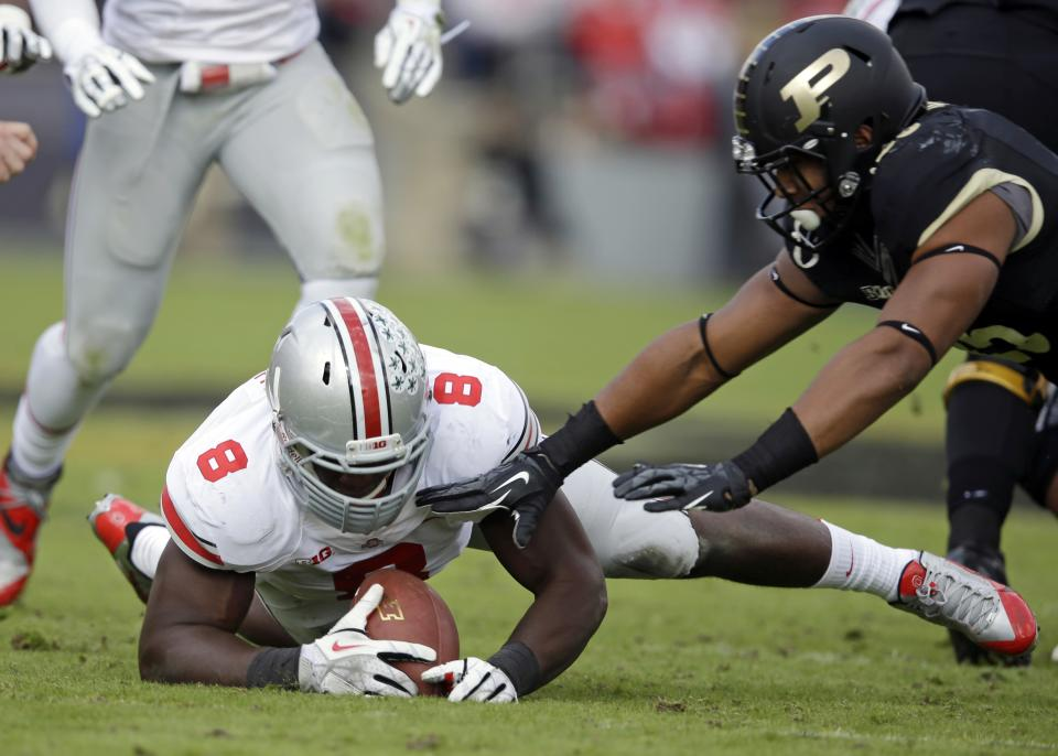 No. 4 Ohio St rolls past Boilermakers 56-0