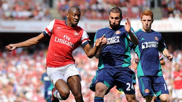 FOOTBALL - 2012/2013 - Arsenal-Sunderland - Diaby - Cuellar