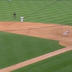 Teixeira's diving catch