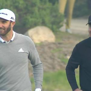Dustin Johnson opens round with an eagle at AT&T Pebble Beach